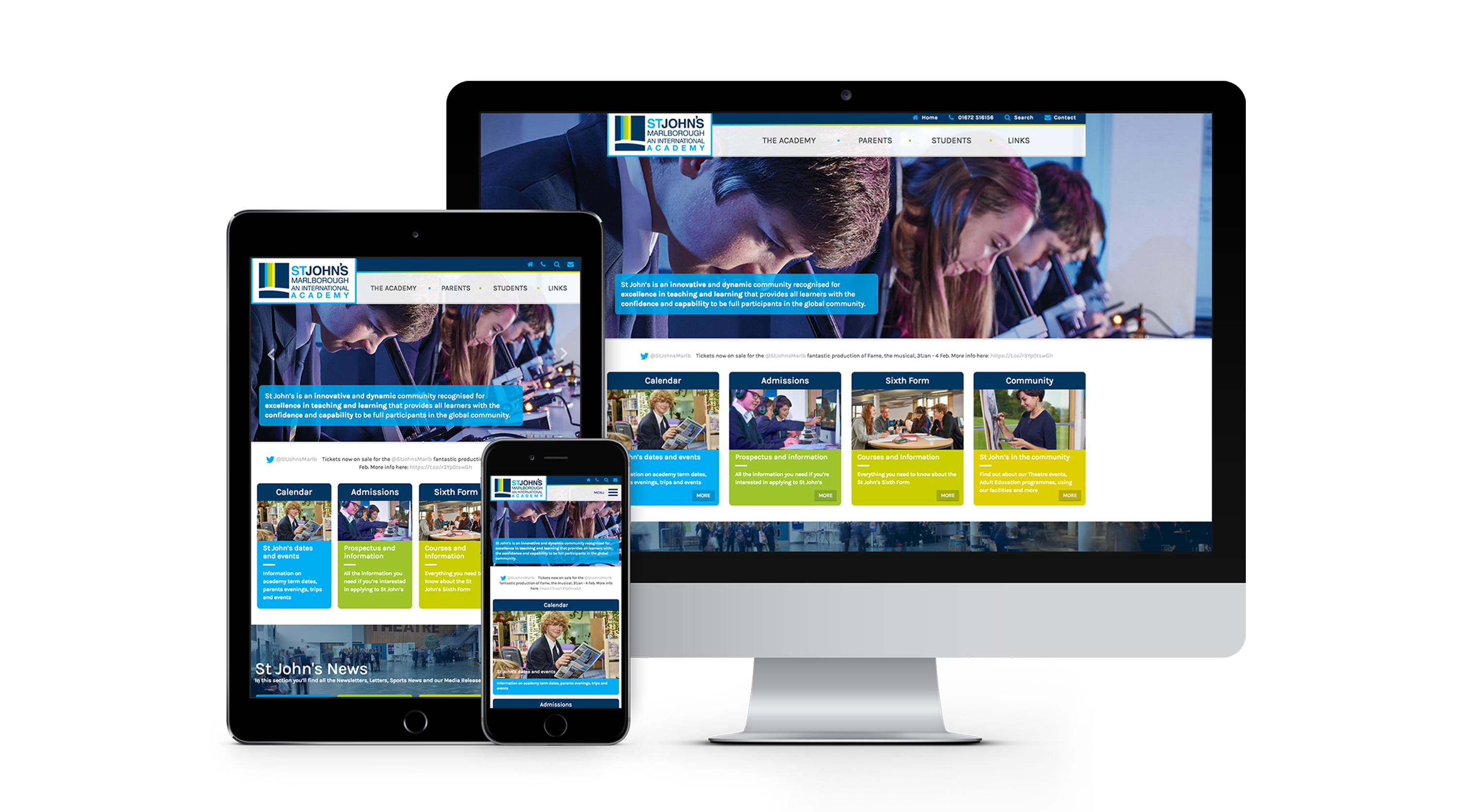 St Johns Academy Website